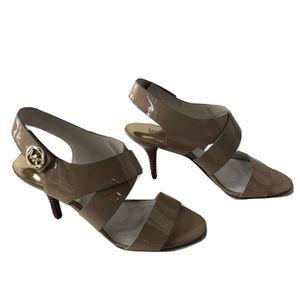 Michael Kors Patent Leather Sandals, Size 8